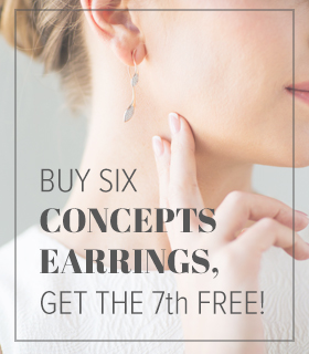 Buy six Concepts earrings, get the 7th free!